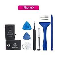 LINXAS iphoneX バッテリー 交換 修理 キット 大容量 PSE準拠 PL保険 工具付き (iphone X)