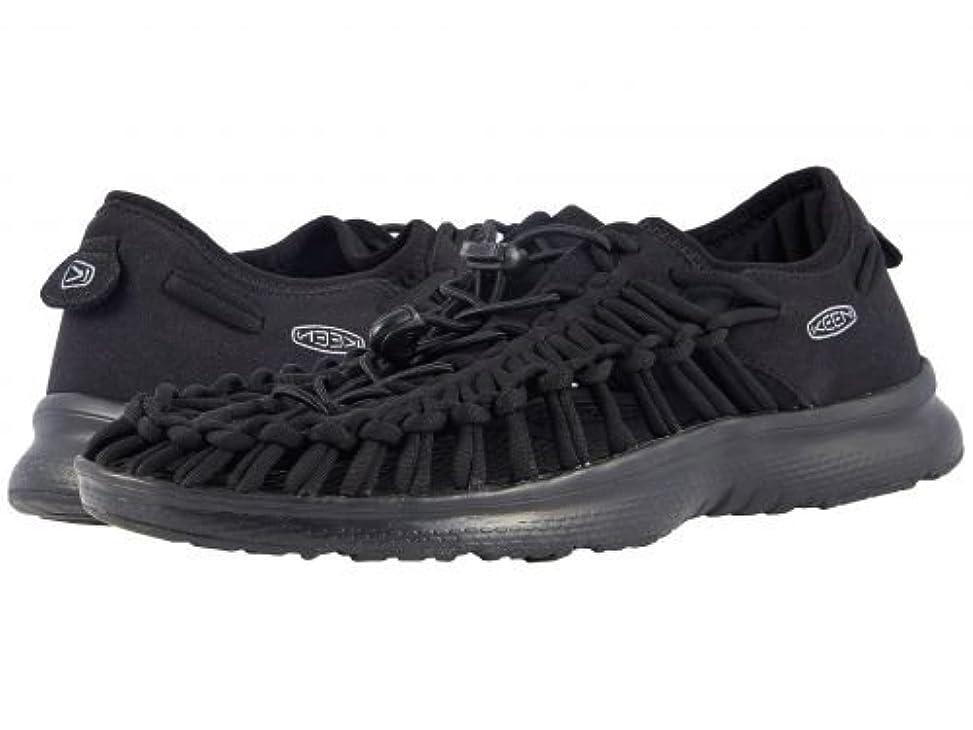 貝殻泥棒お祝いKeen(キーン) メンズ 男性用 シューズ 靴 サンダル フラット Uneek O2 - Black/Black 12 D - Medium [並行輸入品]