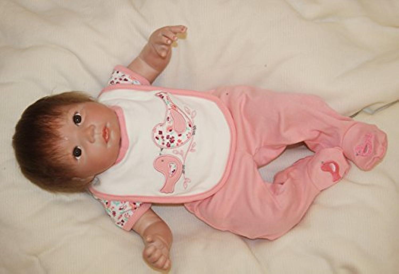 キュートシリコンベビーガール人形Reborn新生児Babaies for Nurseryトレーニング玩具、20インチ