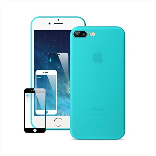 IPhone 7 Plus Case IPhone 8 Plus Case Ultra Thin Slim Anti-Scratch Protection Case Full Surrounded Dirty Proof Anti-Yellowing & Non-fading good touch feeling 7P/8P Protector-Transparent Tiffany [並行輸入品]