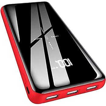 モバイルバッテリー Qi 25000mAh 大容量  LCD残量表示 鏡面仕上げデザイン PSE認証済 2つ入力ポート 3つ出力ポート 4台同時に充電 iphone/ipad/AndroidなどQi対応
