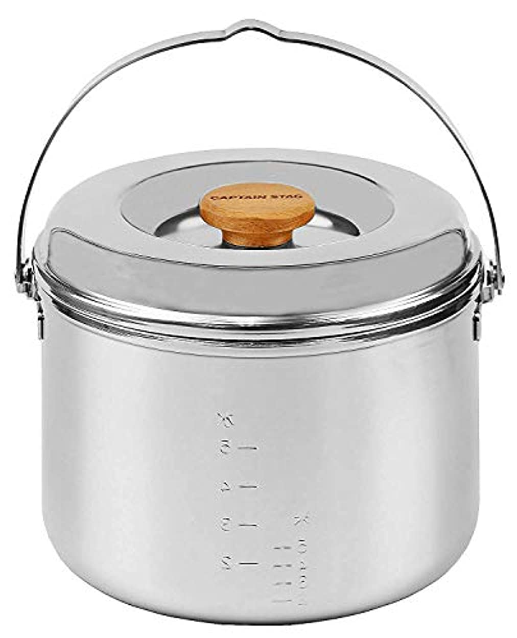 帳面粘土喜んでキャプテンスタッグ(CAPTAIN STAG) キャンプ バーベキュー用 炊飯器 3層鋼ごはん炊きクッカー5合 M-8610M-8610