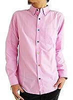 (アーケード) ARCADE メンズシャツ 選べる10タイプ オックスフォード ボタンダウンシャツ カラーボタン 長袖 白シャツ M L LL 3L