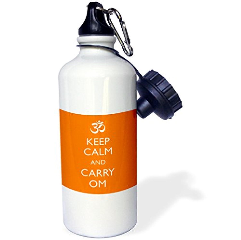 ローズWB _ 159562 _ 1 Keep Calm and Loveヨガ、スポーツウォーターボトル、21オンス、ホワイト