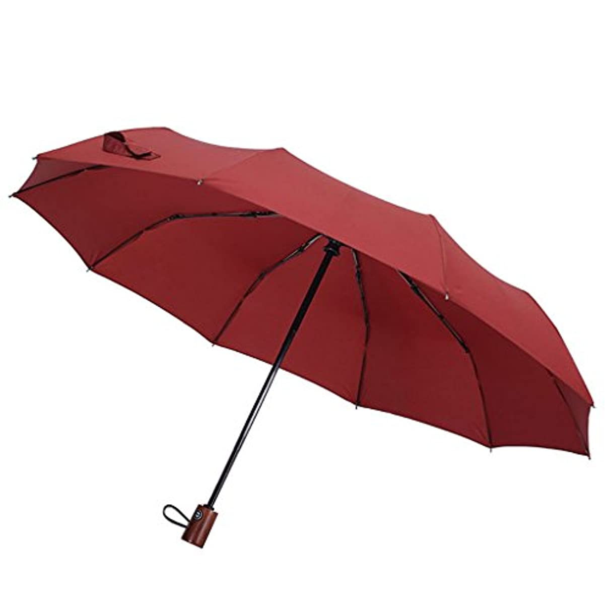 不安定ファンタジー映画速乾性旅行用パラソル、強化型防風フレーム、自動開閉、スリップ防止ハンドルで持ち運びが簡単 (色 : Red)