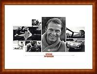 ポスター シド アベリー Steve McQueen(スティーブ マックイーン) 額装品 ウッドハイグレードフレーム(ナチュラル)