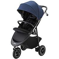 アップリカ 3輪ベビーカー Smooove Premium AB スムーヴプレミアムAB (ハンドブレーキ・安定自立・新生児から使える) 別売トラベルシステム対応 ブルービューティーデニム 1か月~ (1年保証) 2084460
