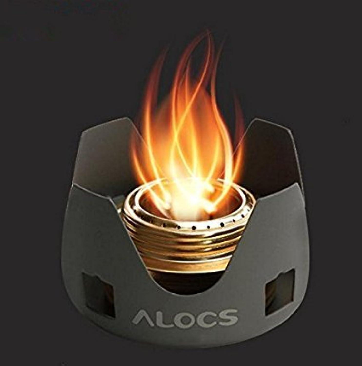 伝染性の汚物軌道Alocs CS-B02キャンプ用スピリットバーナーキャンプストーブアルコールストーブ重量130g