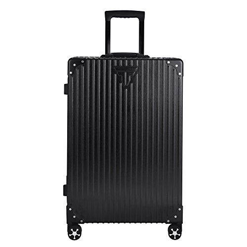 TABITORA(タビトラ) スーツケース 大型 超軽量 旅行用品 出張 TSAロック 大容量 耐衝撃 アルミフレーム キャリーケース 75L 5.3KG ブラック l