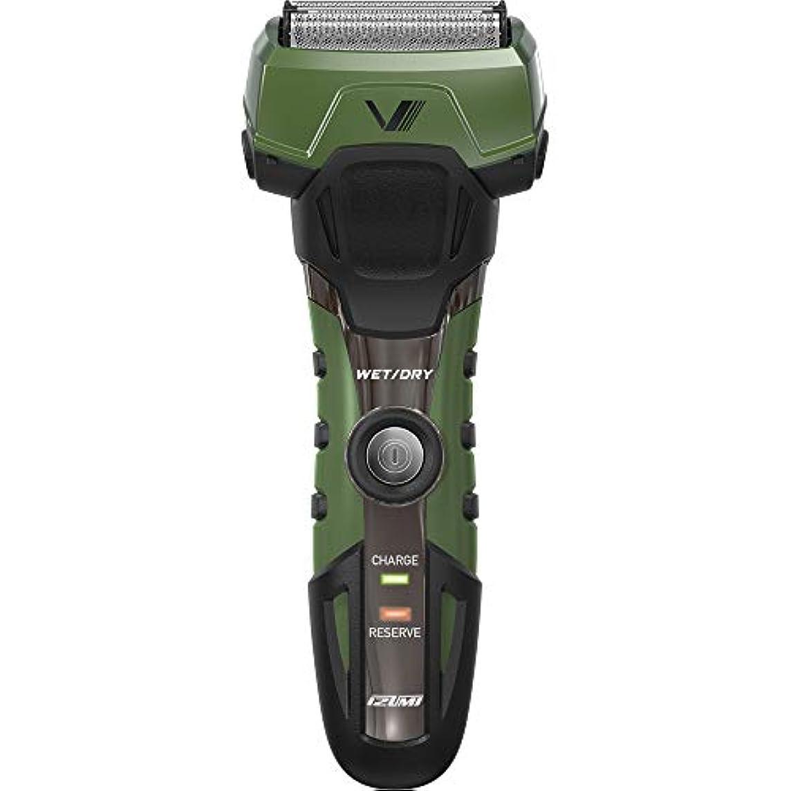 厄介な賛辞手錠IZUMI A-DRIVE グルーミングシリーズ 往復式シェーバー 4枚刃 グリーン IZF-V758-G-EA