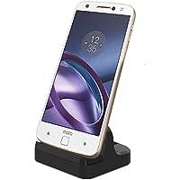 【TopAce】Type-C 卓上ホルダー 充電 スタンド クレードル充電器 Huawei P10 / Xperia XZ Premium/Galaxy S8 Plus 対応 ケース付けても使用可能 DOCK ドックスタンド ドック【全4色】(ブラック)