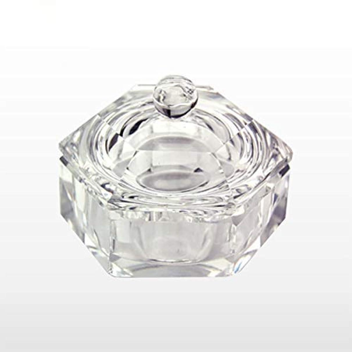 変動する三番早熟ダッペンディッシュ フタ付き六角Sサイズガラス製