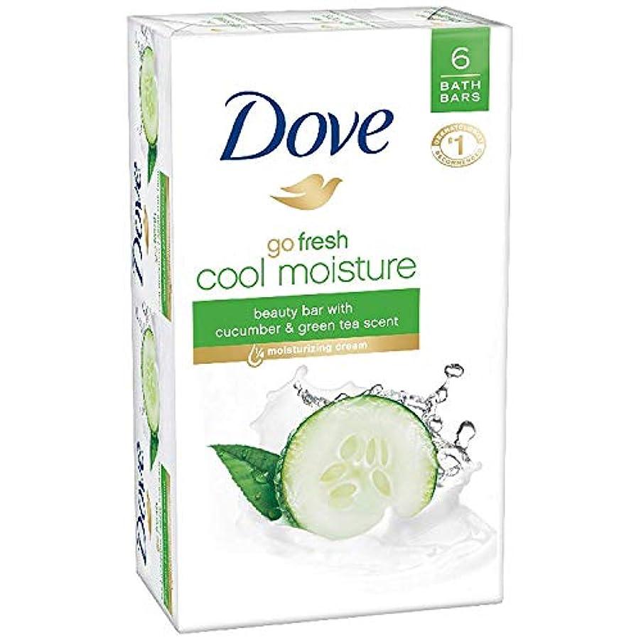 クローゼットバーター宿命Dove 新鮮な美しさバーを行く - クールモイスチャー - 4オズ - 6のCtを - 2 Pkを 4オンス6 CT 2 PK キュウリと緑茶