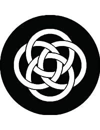 家紋シール 四つ輪違い紋 布タイプ 直径40mm 6枚セット NS4-1678
