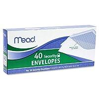 Meadセキュリティ封筒、41/ 8x 91/ 2、20ポンド、ホワイト、40/ボックス( Pack of 3) 3 Pack