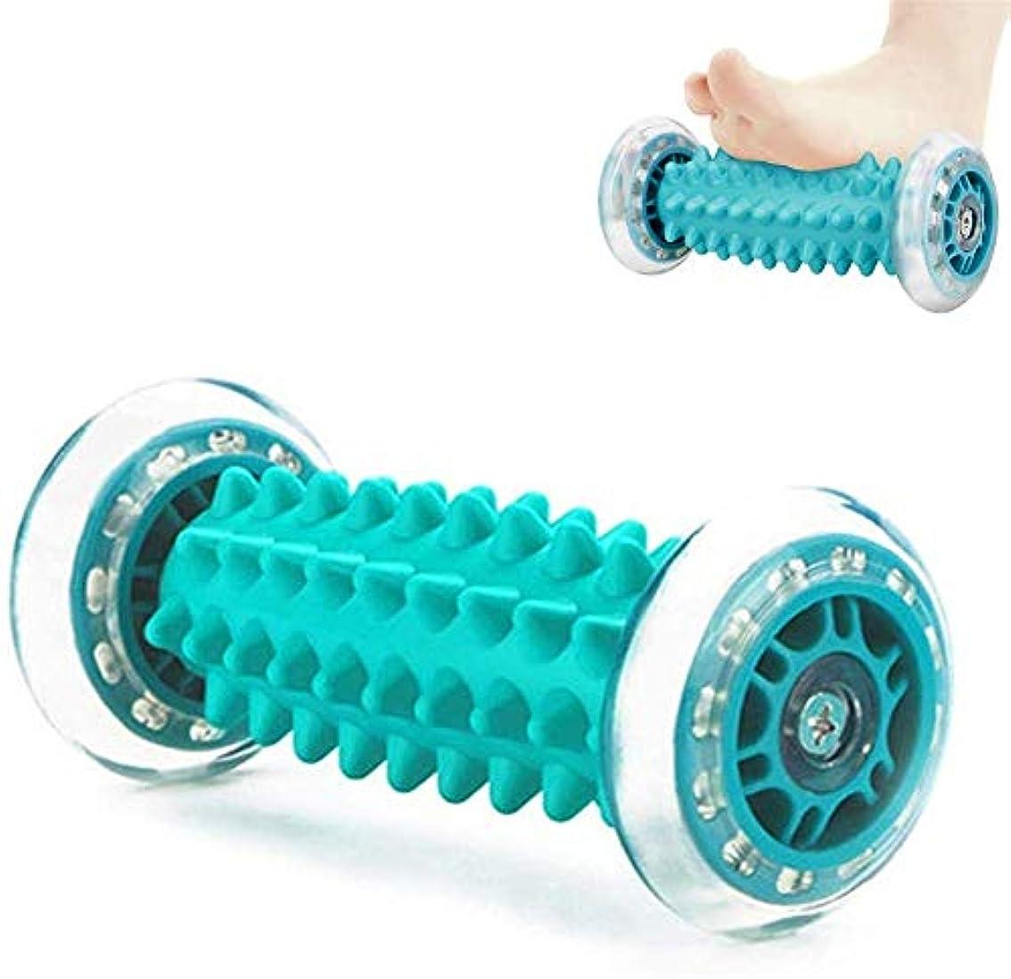チラチラするロッド腸フットマッサージローラー、足や手のマッサージ救済ストレスとリラクゼーションマッサージ足底筋膜炎、ヒール&フットアーチの痛みのためのフットバック脚ハンドタイトな筋肉をリラックス