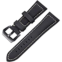leather watch band 20mm 22mm 24mm 26mm genuine leather replacement watch strap wristband for men women
