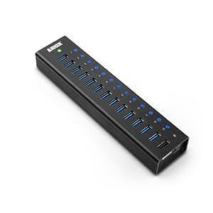 Anker AH232 USB 3.0 13ポート +1スマート充電ポート(5V / 2.1A) アルミニウムハブ USB1.1/2.0互換