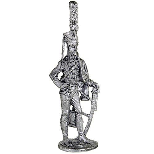 軽騎兵  一等航海士  ロシア1809-11  年。Hussars Chief officer. Russia, 1809-11 years. コレクション54ミリメートル(1/32スケール)を ミニチュア置物.錫のおもちゃの兵士