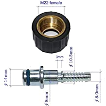 XZT Pressure washer hose fittings M22 female/14 Adapter Coupling Fittings for Karcher Most Brand machine : for DN8(-05) Hose