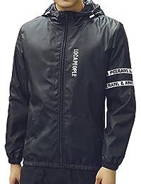 (フロラン) Froyland メンズ ナイロン ジャケット ウインドブレーカー フード付き アウトドア ジャンパー パーカー 防風 速乾 超軽量 UVカット