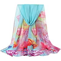 Ausexy Flower Print Shawls and Wraps for Evening Dresses, Bikini Swimsuit Shawl Wrap Fringes Scarf for Women