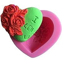 ハート形の花チョコレート キャンディ 3d シリコンモールド漫画figre/ケーキ ツール ソープ モール ド シュガー クラフト ケーキ デコレーション c320
