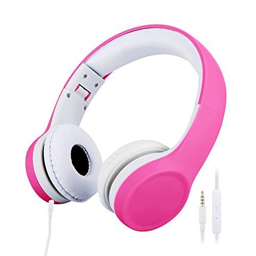 misognare 子供用ボリューム 有線 ボリュームリミテッド キッズヘッドフォン (ピンク)