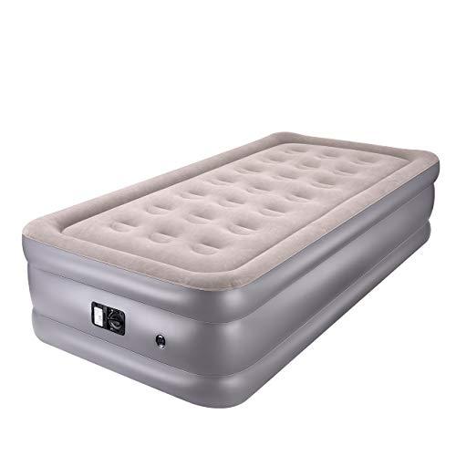 Longtop エアーベッド 防災対策 二代目 シングルサイズ (203x99x厚さ46cm) 電動ポンプ内蔵 エアーマットレス 空気ベッド キャップ お昼寝 シングルサイズ