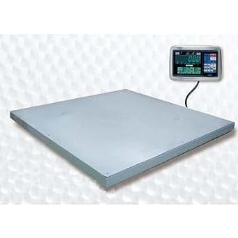 大和製衡 超薄形デジタル台はかり 載台:PL-MLC9 1,000kg 1,200(W)×1,200(D)mm 鉄製 指示計:標準タイプ EDI-561
