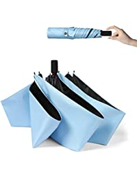 YOSHINO 超軽量(172g) 折りたたみ 日傘 UVカット 完全遮光 遮熱 晴雨兼用 折り畳み日傘 レディース メンズ 300T高強度グラスファイバー 耐風撥水 収納ポーチ付き…