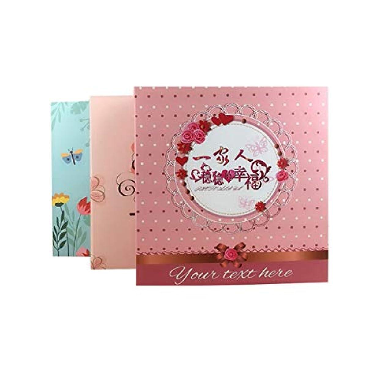 インスタントワークショップ苛性SLY アルバムファミリー5インチ6インチ7インチ8インチミックスアルバムアルバムアルバムブックを挿入 (Color : Pink)