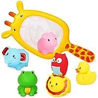 PANCY お風呂用おもちゃ ベビー用 水遊び 水鉄砲 かわいい 動物 おもちゃ 7点セット