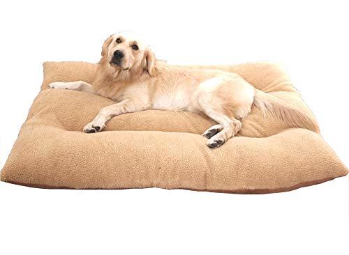 wan nyan paradise 犬 猫 等 ペット ぐっすり眠る ふんわり ベッド マット クッション (65×50cmサイズ 推奨体重13kg以下, 茶)