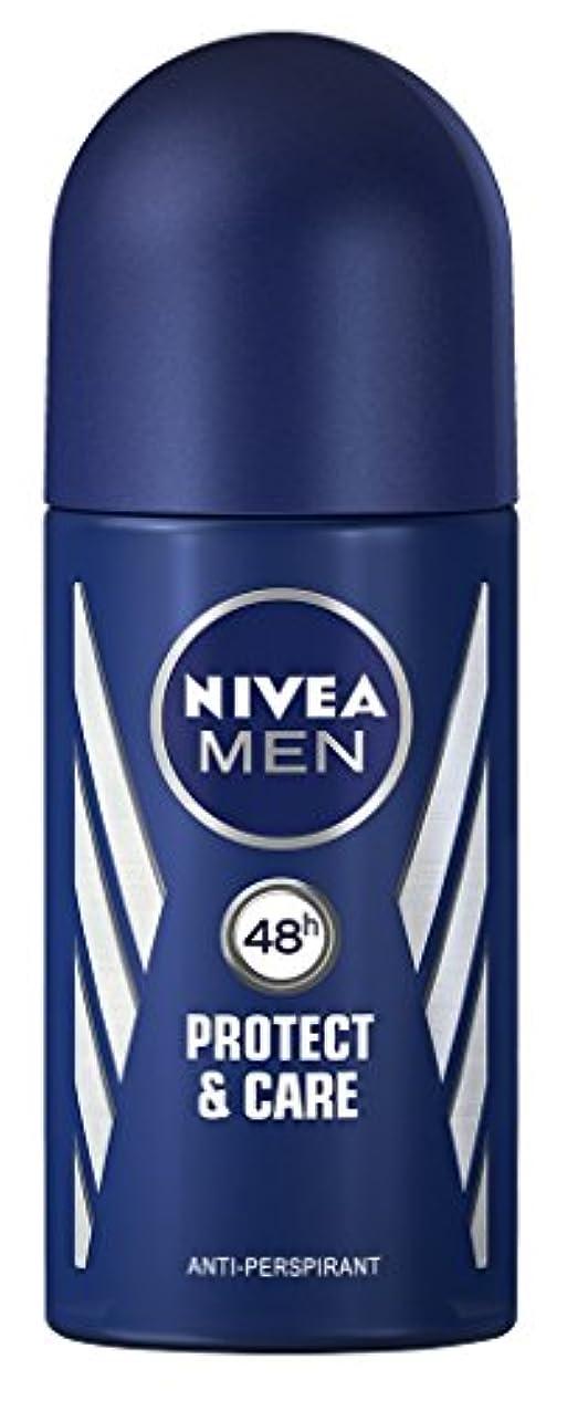 マイクロコイン程度Nivea Protect & Care Anti-perspirant Deodorant Roll On for Men 50ml - ニベア保護するそしてお手入れ制汗剤デオドラントロールオン男性用50ml