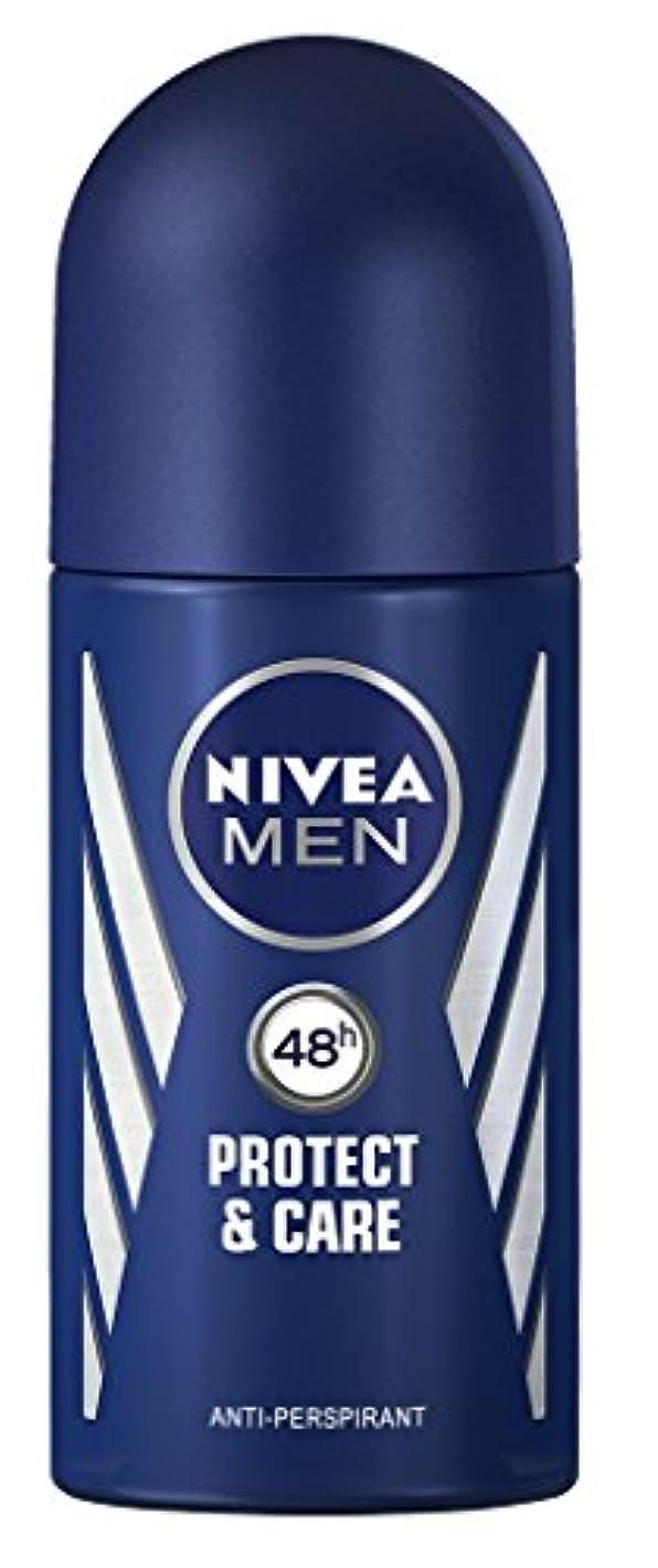 レモンレーニン主義大工Nivea Protect & Care Anti-perspirant Deodorant Roll On for Men 50ml - ニベア保護するそしてお手入れ制汗剤デオドラントロールオン男性用50ml
