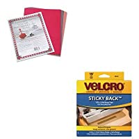 kitpac103637vek90083–Valueキット–ベルクロ裏面シールフックとループファスナーテープディスペンサー(vek90083) and Paconリバーサイド建設紙(pac103637)