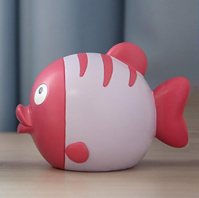マネー バンク キス魚ピギーバンク子供預金銀行漫画かわいいクリエイティブギフト(ピンク)
