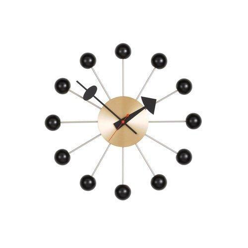 RoomClip商品情報 - 【正規取扱店】 vitra(ヴィトラ) Ball Clock(ボールクロック) Wall Clock ウォールクロック 掛け時計 デザイン:George Nelson(ジョージ・ネルソン) カラー:全5色 スイス デザイナー ビトラ パントン イームズ イサム ノグチ (ブラック×ブラス)
