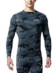 (テスラ)TESLA オールシーズン 長袖 ラウンドネック スポーツシャツ [UVカット・吸汗速乾] コンプレッションウェア パワーストレッチ アンダーウェア・R11 19