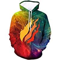 KUESANT Preston Fire Nation Playz Gamer Flame Hoodies for Teen Boys Girls 3D Printed Pullover Sweatshirts Hooded Tops