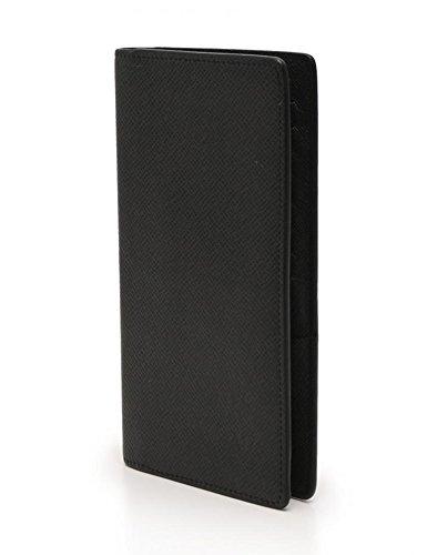 (ルイヴィトン)LOUIS VUITTON ポルトフォイユ ロン 二つ折り 長財布 札入れ M33401 タイガ レザー 黒 中古
