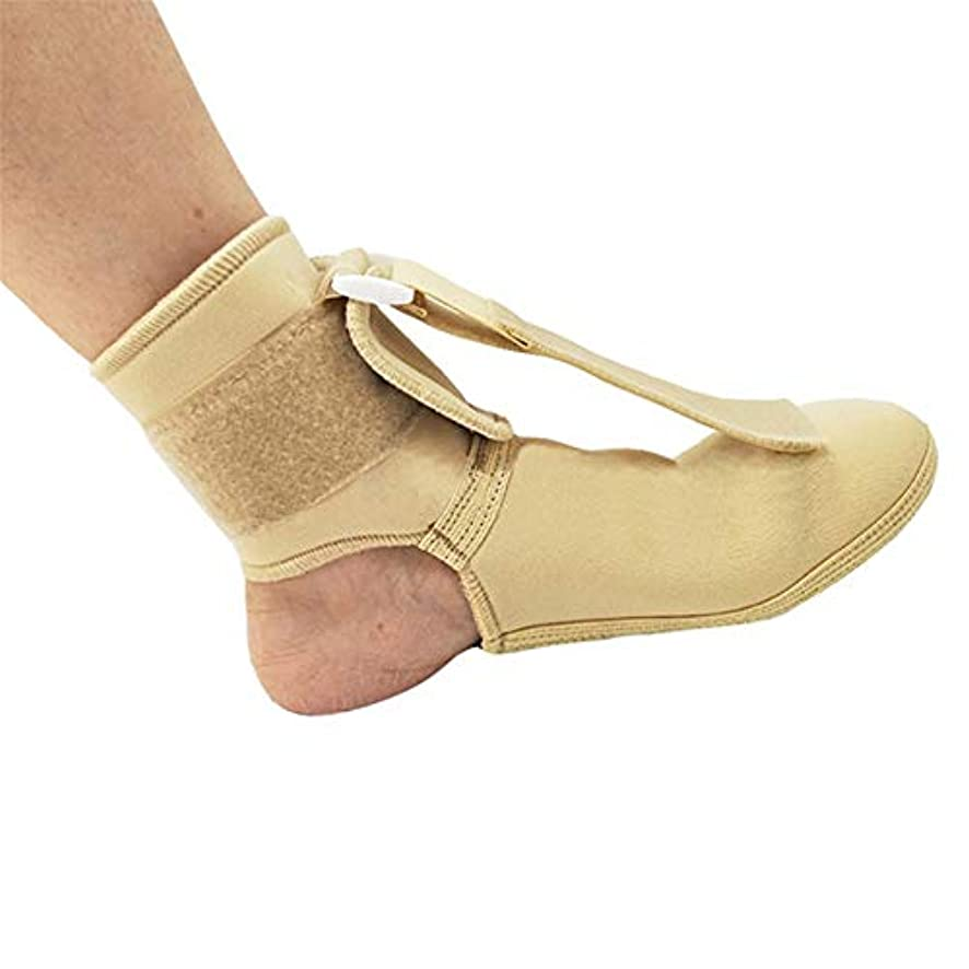情熱的居眠りする努力する足首保護、関節サポート、調節可能なフットドロップ矯正装具足の痛みの軽減スプリント足首スプリントサポートナイトスプリント,L
