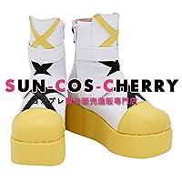 【サイズ選択可】コスプレ靴 ブーツ K-3027 バーチャルYouTuber ピンキーポップヘップバーン Pinky Pop Hepburn 女性23CM