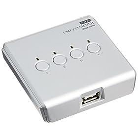 サンワサプライ USB2.0手動切替器(4:1) SW-US24