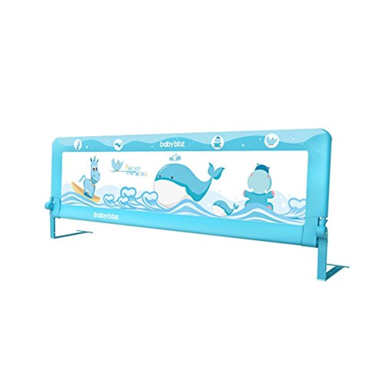YNN ベッドベッドサイドバッフル150/180/200cm大きなベッドユニバーサルベッドレールを防ぐための子供用ベッドガードレールフェンス (色 : Blue, サイズ さいず : 200cm)