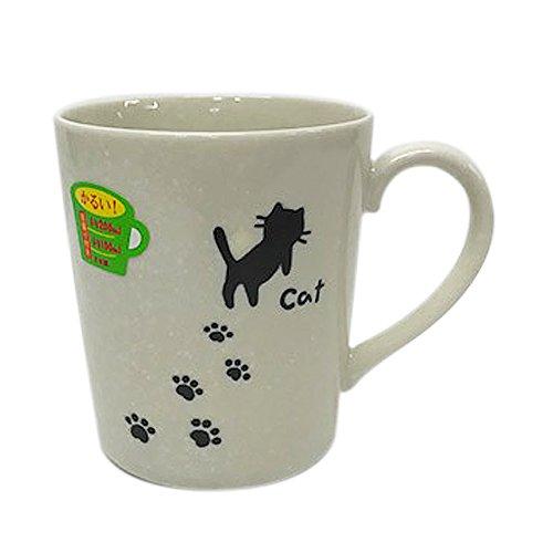 シェーマ あしあとネコ 軽量マグカップ 白...