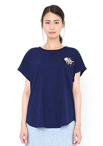 (グラニフ) graniph キャッツ ポケット ラウンドネック ボックス Tシャツ (フォーキャッツ) (ネイビー) Lady(F)