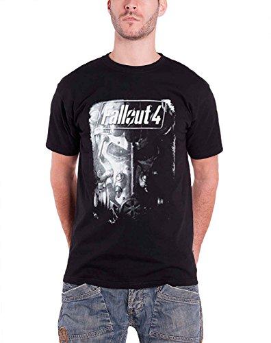 Fallout 4 フォールアウト4 Brotherhood Of Steel 鋼鉄の騎士団 PS4 Xbox 公式 メンズ ブラック 黒 Tシャツ