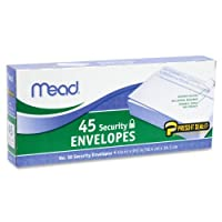 (12 Pack) - 12 Pack of Mead Press-it Seal-it 10 Security Envelopes 10cm X 24cm, White, 45 Count (540 Count In Total) (75026)